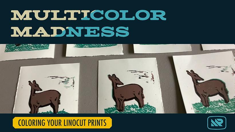 Skillshare Class - Coloring Linocut Prints