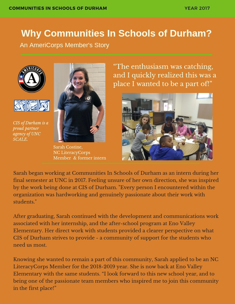 Feel inspired by our AmeriCorps member.