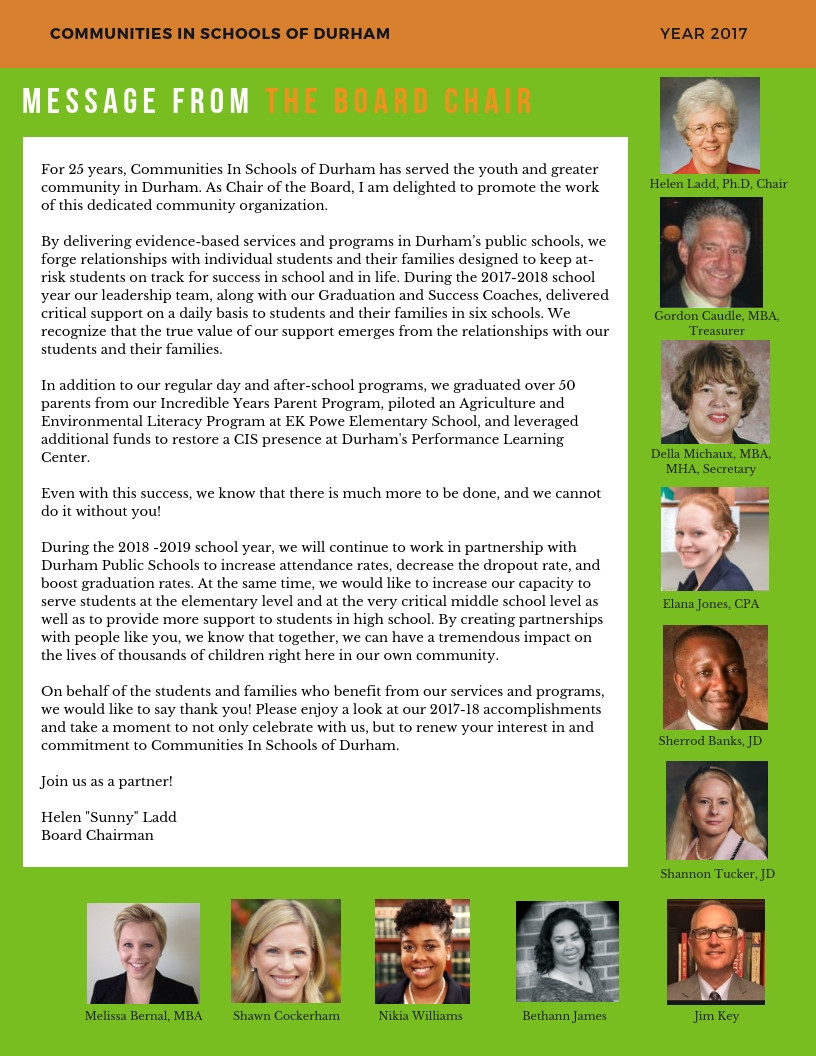 Letter from our Board Chair