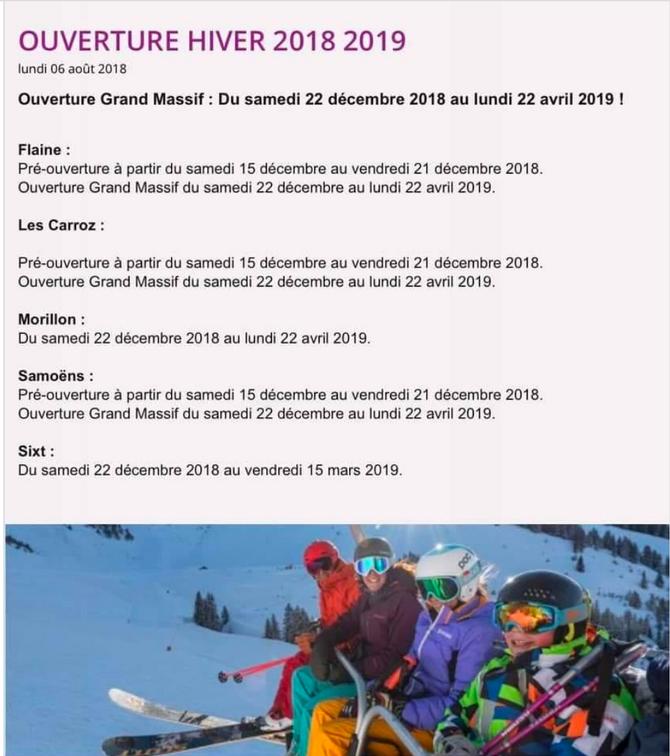 OUVERTURE DU DOMAINE 2018-2019