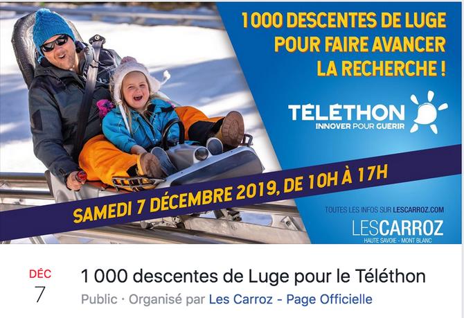 1000 descentes de luge pour le Telethon