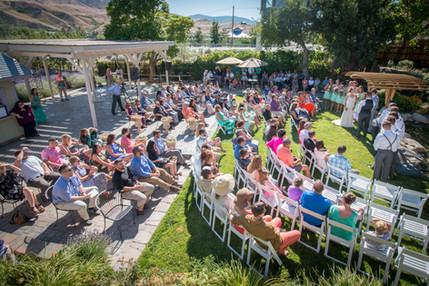 Outdoor wedding venue reno
