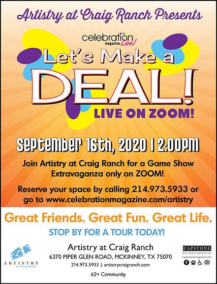 Zoom Events for Seniors | Artistry at Craig Ranch McKinney | Celebration Senior Magazine