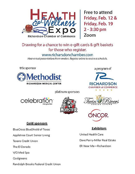 Richardson Chamber Health & Wellness Expo | Celebration Magazine LIVE | Dallas & Richardson Seniors