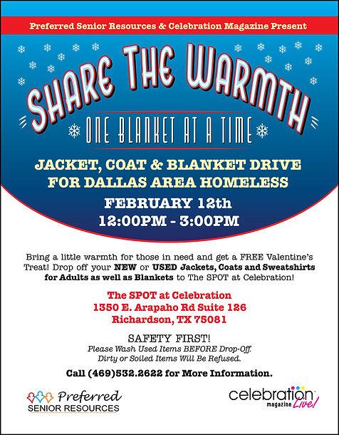 Jacket Coat Drive Donation Dallas Texas Seniors