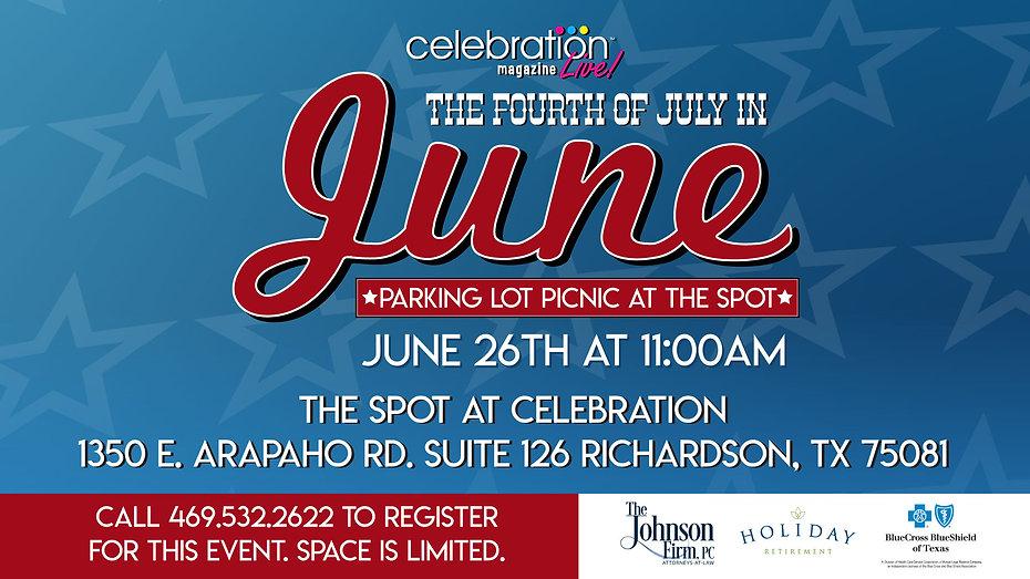 Events for Seniors in Dallas, Texas | July 4th in June for Seniors | Celebration Senior Magazine