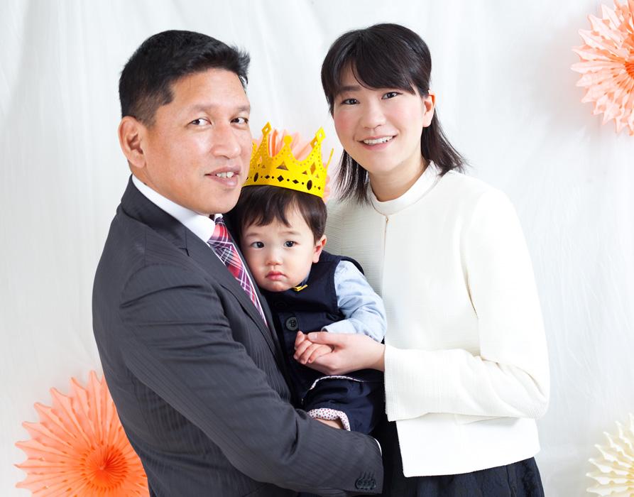 誕生日家族写真