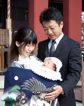 前川神社写真館-お宮参り-家族写真