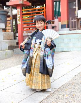 5歳-七五三-前川神社写真館-川口市黒着物