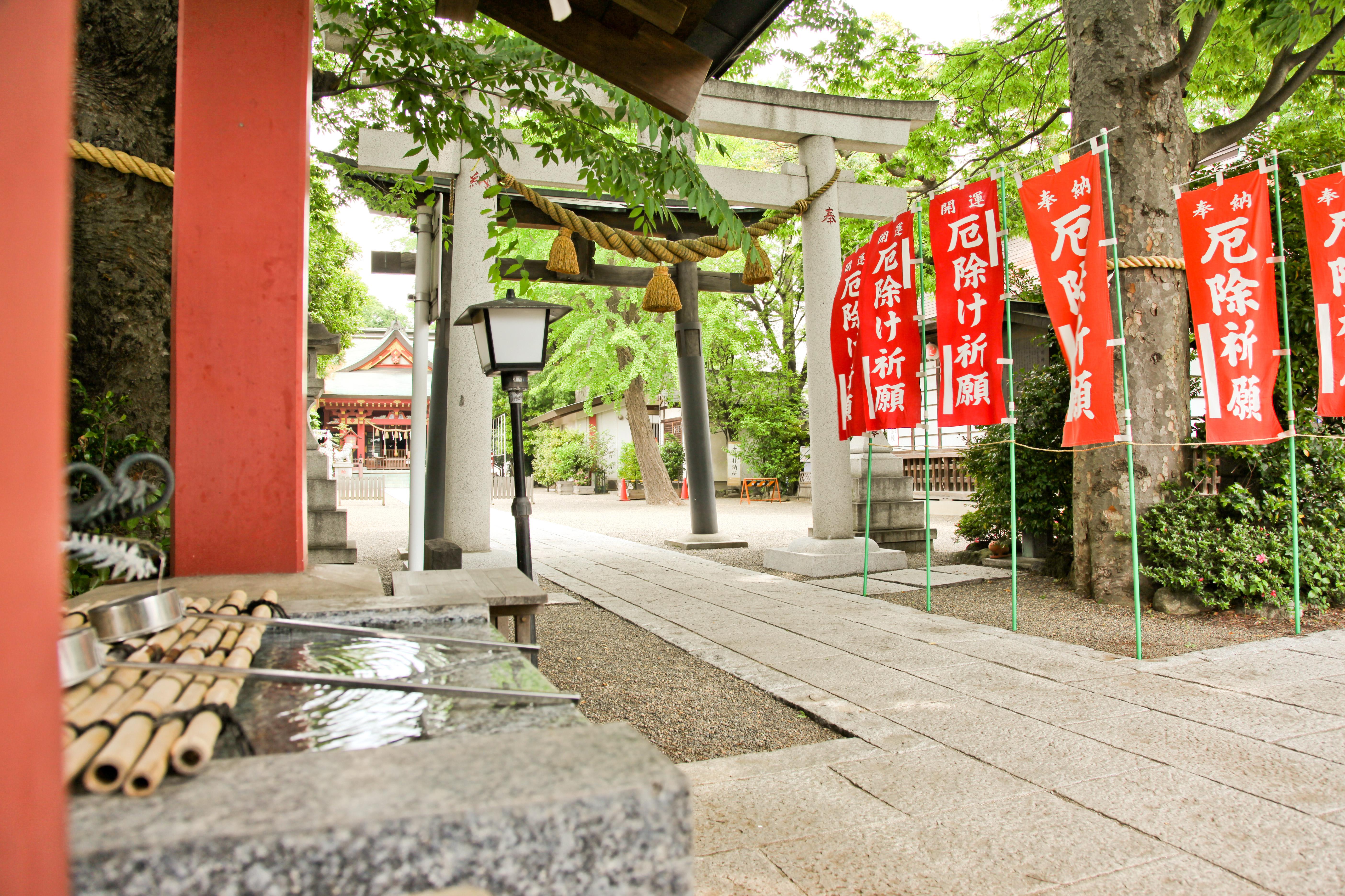 前川神社入口