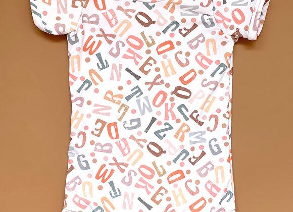 Alphabet Short Lee Romper