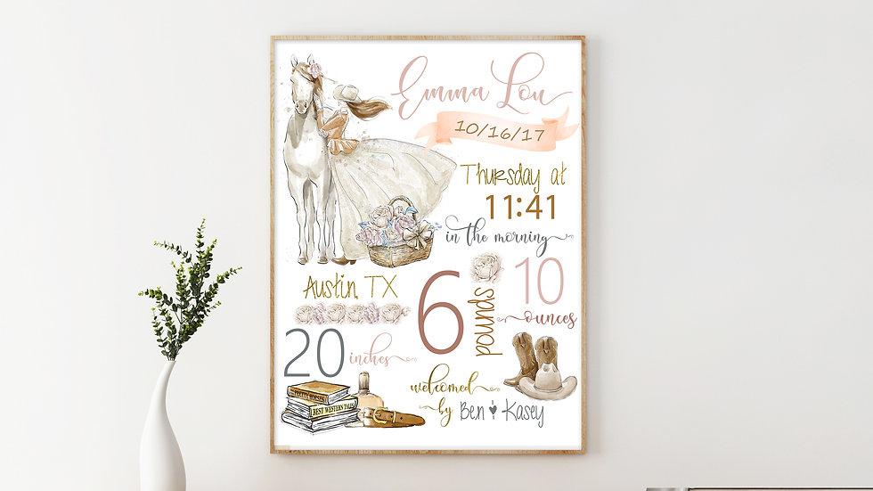 Cowgirl Birth Stat