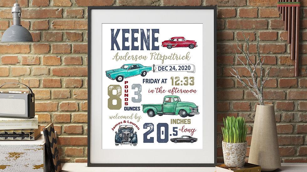 Classic Car Birth Stat