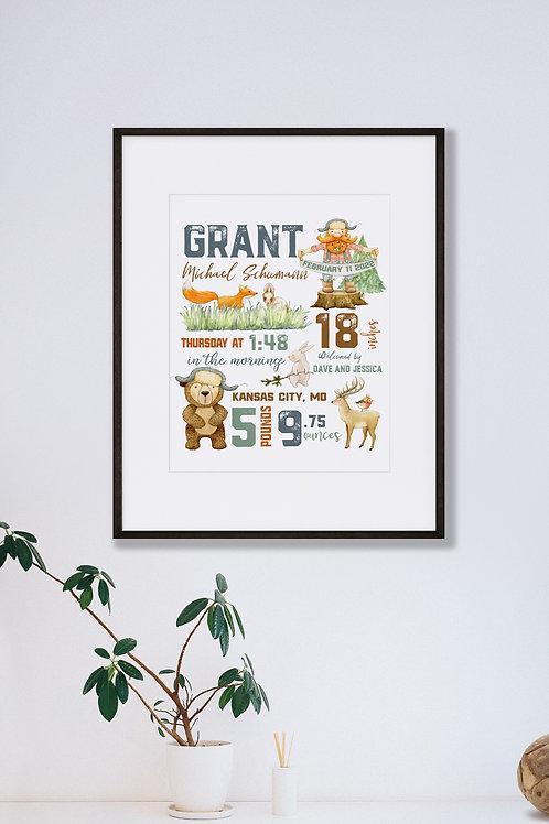 Woodland Nursery Baby Gift