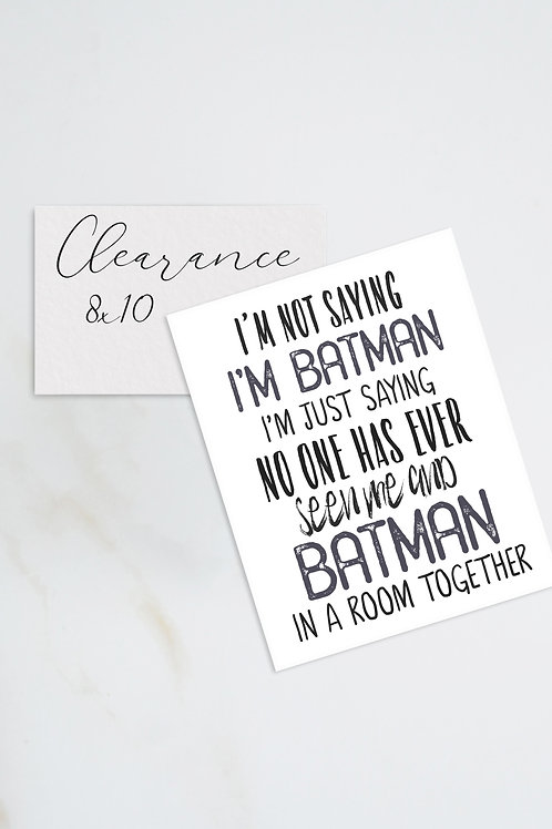 Batman Superhero Print