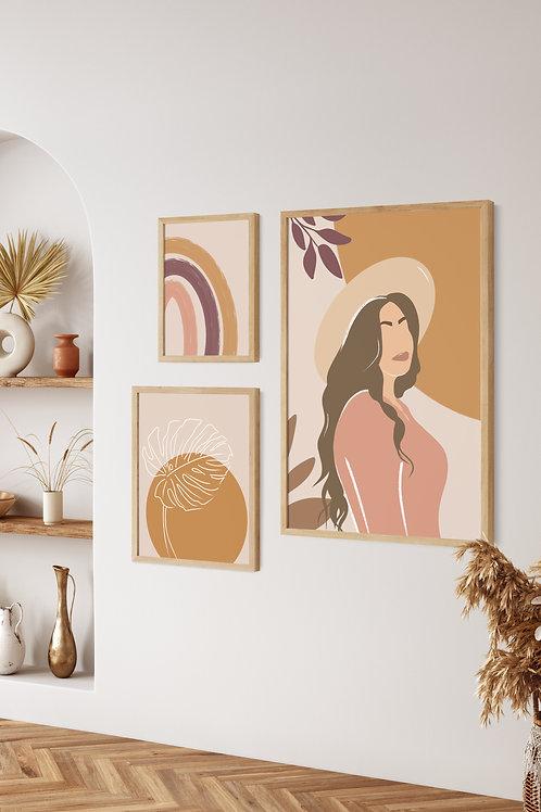 Boho Décor Gallery Wall - Daystar