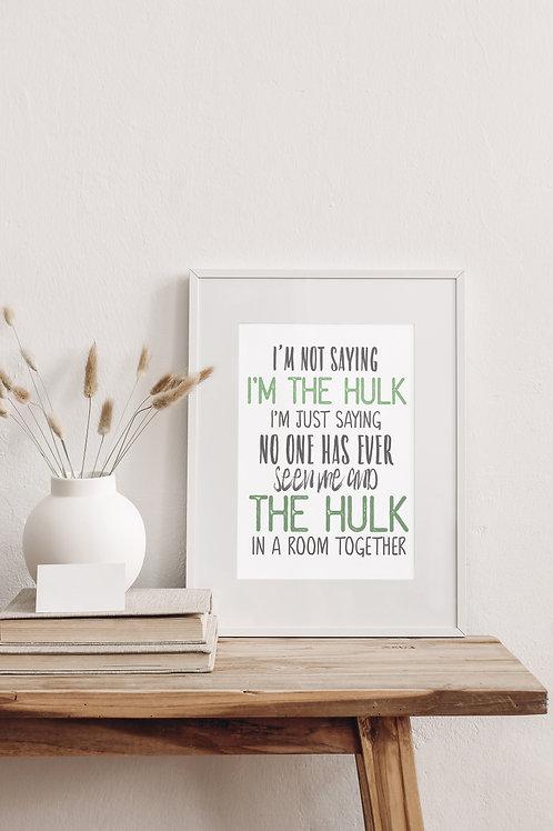 Hulk Superhero Print