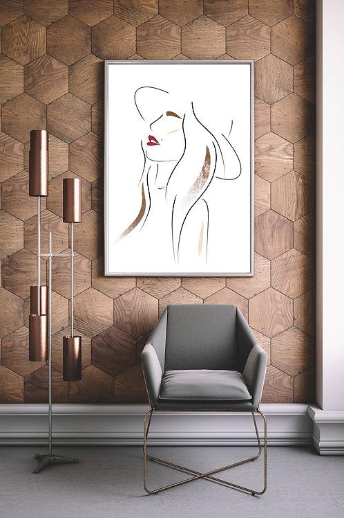 Minimalist Feminine Wall Art 'Kakia'