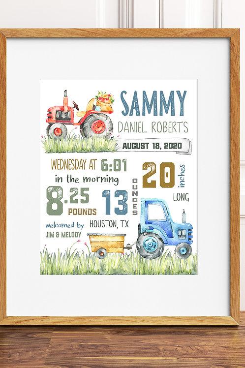 Tractor Birth Stat