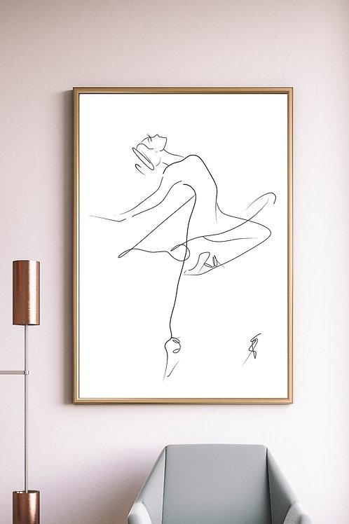 Minimalist Ballerina