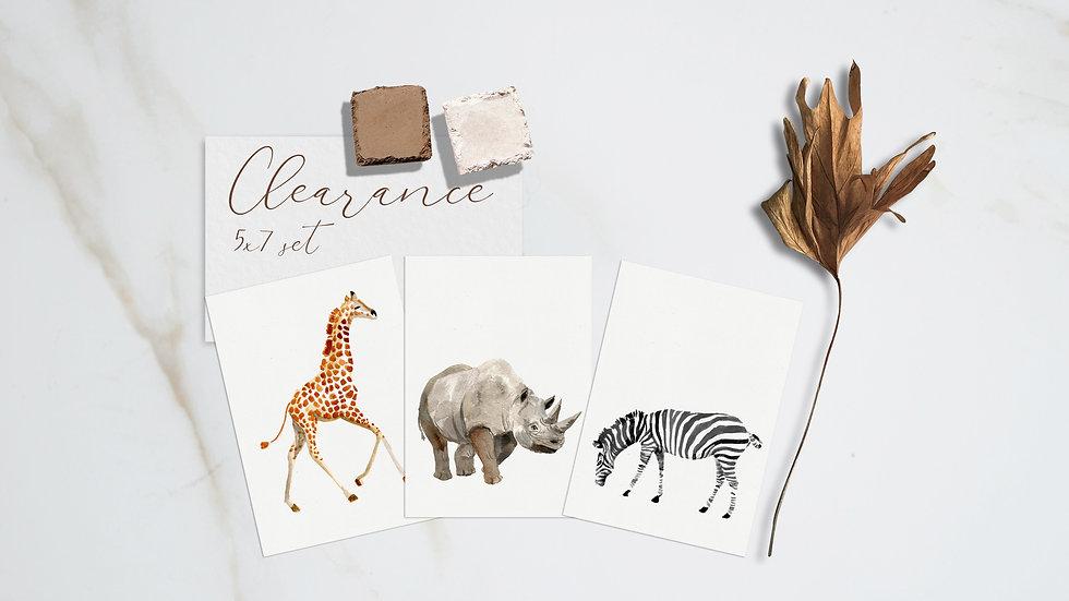 Safari Animals Print Set