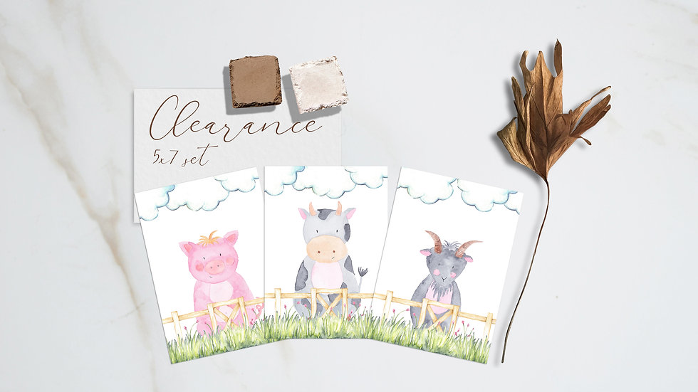 Farm Animal Print Set