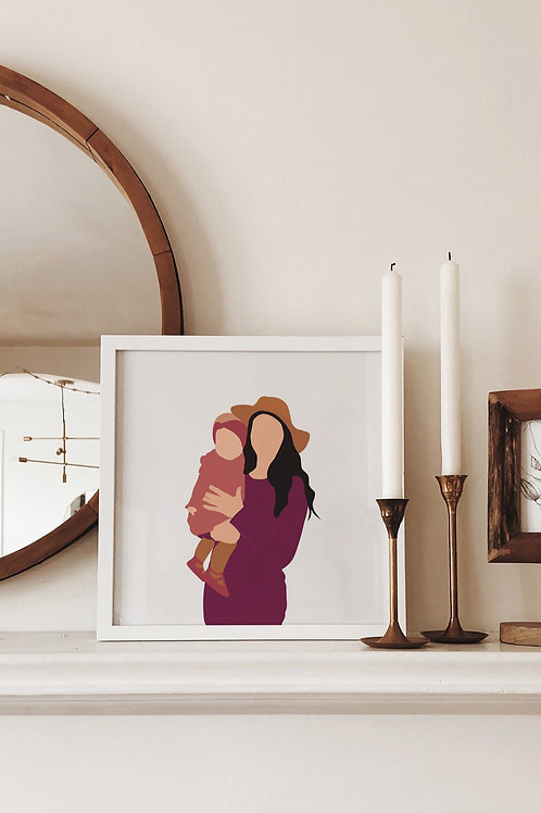 Personalized Mommy and Me Portrait