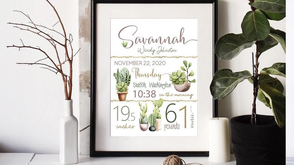 Plant Birth Stat