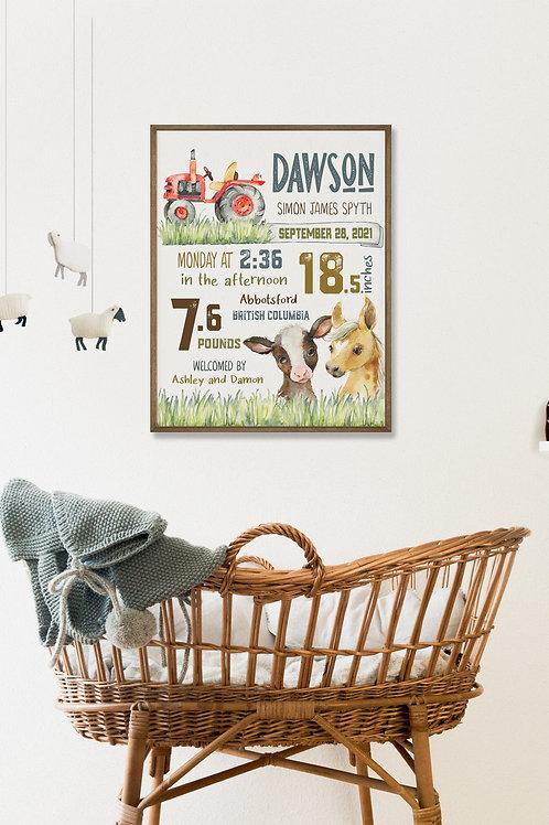 Farm Nursery Birth Stat