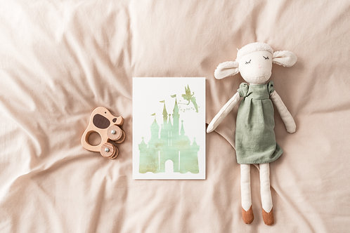Princess Castle Nursery Print