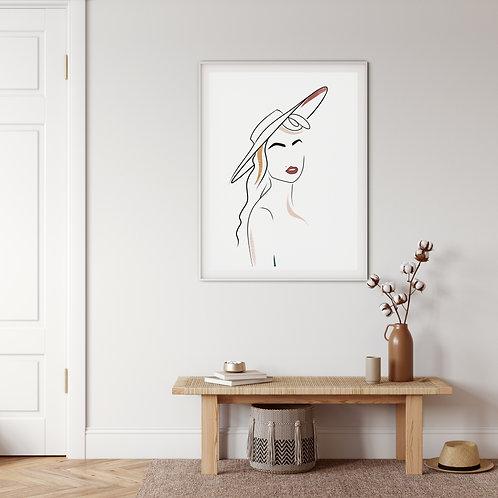 Minimalist Feminine Wall Art 'Drosera'