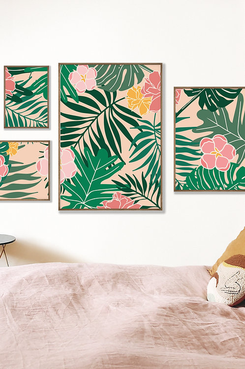 Tropical Gallery Wall - 'In to the Jungle'