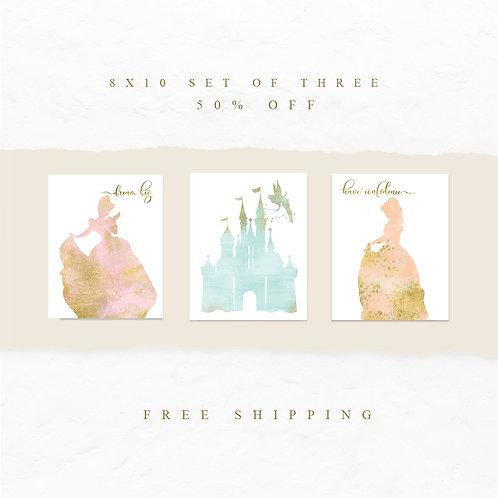 Princess and Castle Print Set