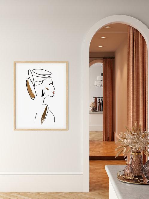 Minimalist Feminine Wall Art 'Ilithyia'