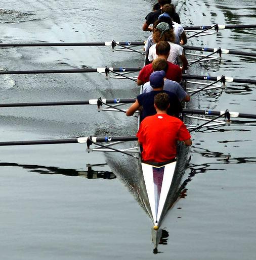 8 man rowing team