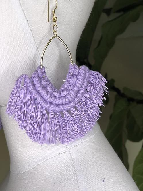 ON THE FRINGE Earrings /Violet