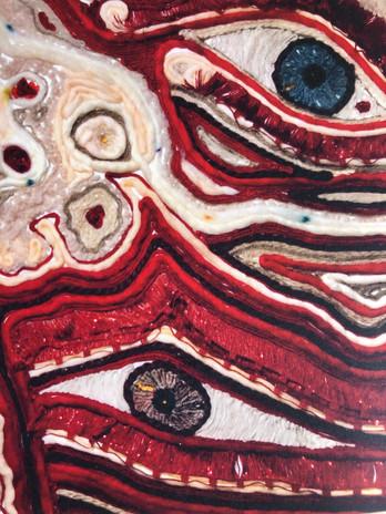 Detail of yarn mosaic.