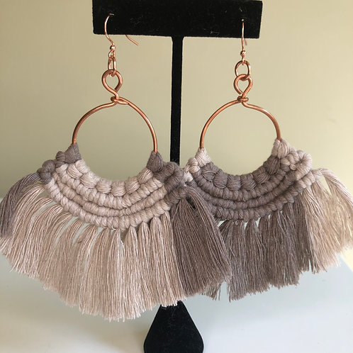 ON THE FRINGE Earrings / Copper - More colors!