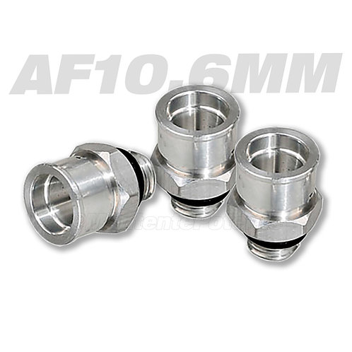 AF10.6MM ADAPTADOR ROSCADO RIEL DE INYECCION  10.6mm METALICO (ASIATICOS)