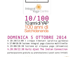 Integral Yoga Centre in Teramo Italy Celebrates its 10 Year anniversary and Sri Swami Satchidananda'