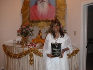Nalanie Harilela Chellaram awarded the first ever Sri Swami Satchidananda Award for Humanitarian Se