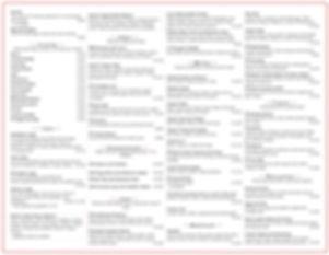Cream Parlor Menu -Page 2