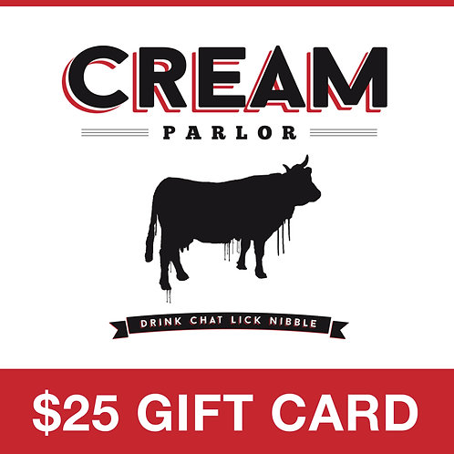 Cream Parlor $25 Gift Card