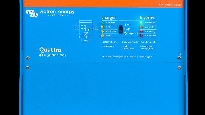 Victron Energy Quattro 48V/5000VA/70A-100/230V Inverter/Charger