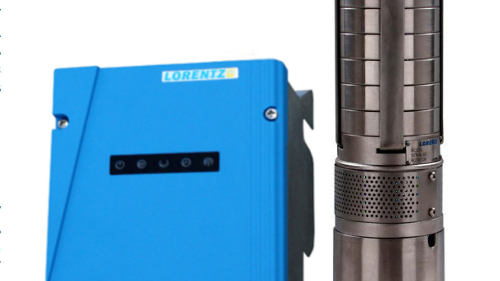 Lorentz PS2-200 C-SJ3-9 Solar Submersible Pump System for 4″ wells