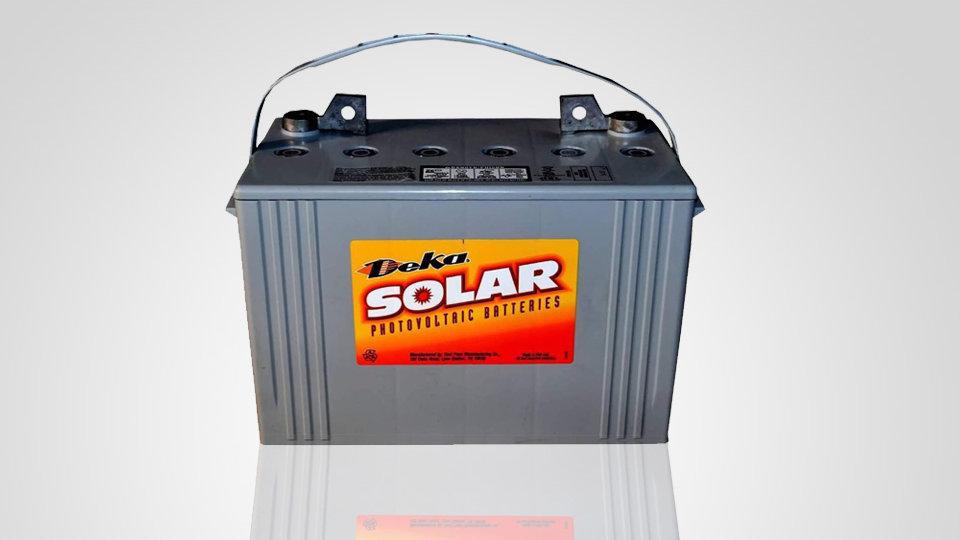 Deka Solar 8G27-Deka 12V, 100Ah Gel Deep Cycle Battery