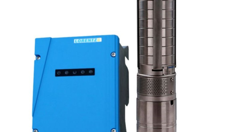 Lorentz PS2-600 C-SJ3-9 Solar Submersible Pump System for 4″ wells