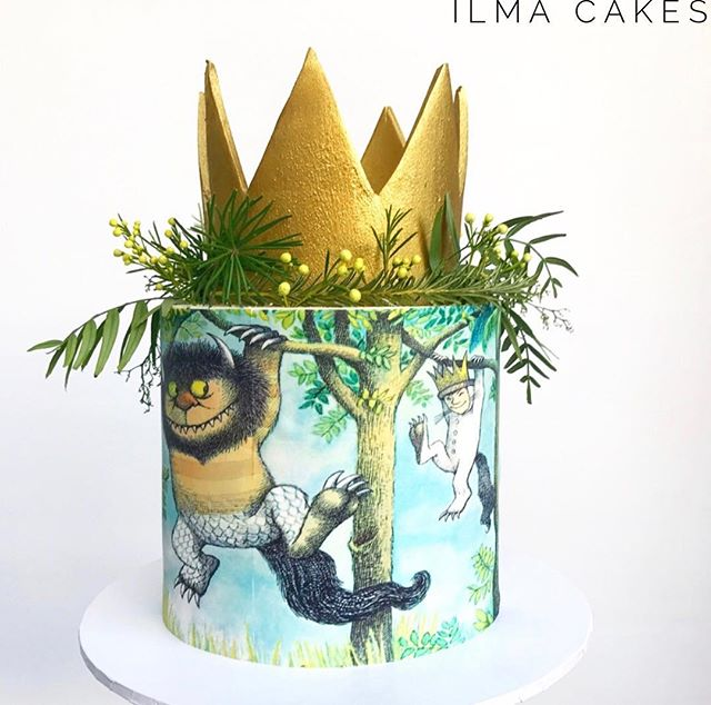 Custom made _where the wild things are_ themed birthday cake from the weekend ❤️_._._._#ilmacakes #e