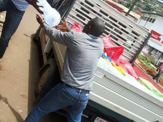DIRECT AID GETS THRU TO SIERRA LEONE MUDSLIDE SURVIVORS