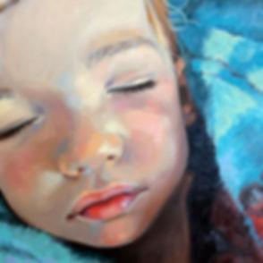 Boy in Blue, oil paint portrait